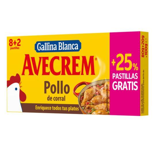 CALDO POLLO AVECREM 8+2 PAST.