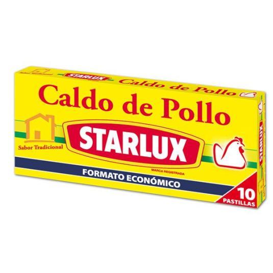 CALDO STARLUX POLLO 10 P.
