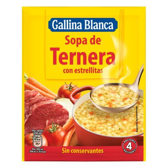 SOPA G.BLANCA TERNERA
