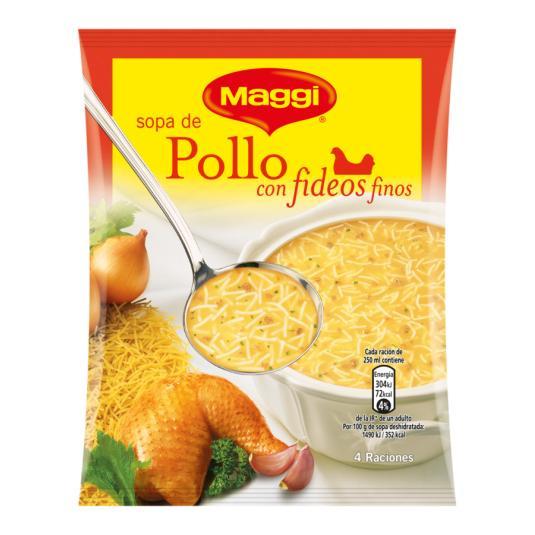 SOPA MAGGI POLLO-FIDEOS