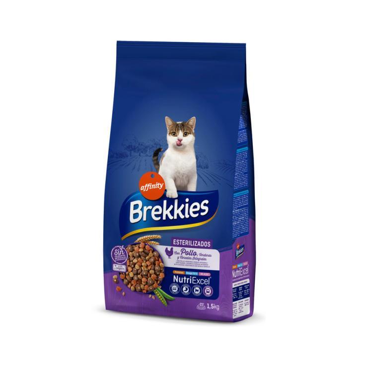 BREKKIES CAT ESTERILIZADOS 1.5 KG
