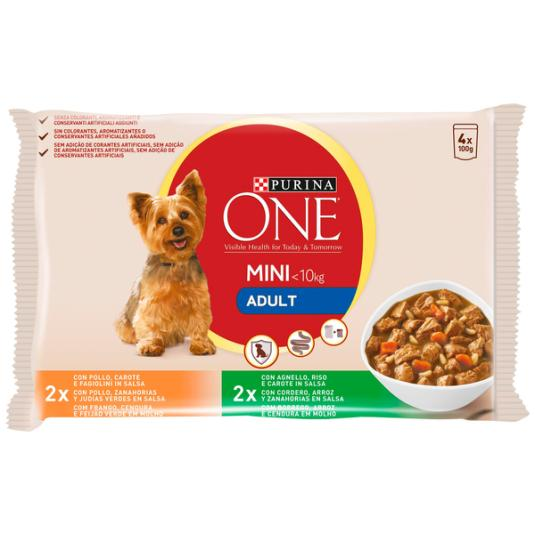 ONE MINI DOG ADULTO POLL-CORD. 4X100 GR