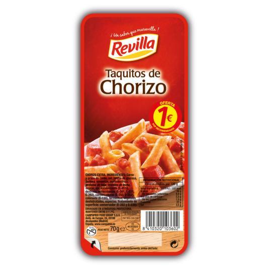 TAQUITOS CHORIZO REVILLA 70 GR