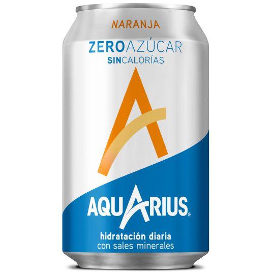 AQUARIUS ZERO NARANJA LATA 33 CL
