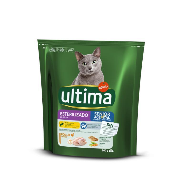 ULTIMA CAT ESTERILIZ.SENIOR 800GR
