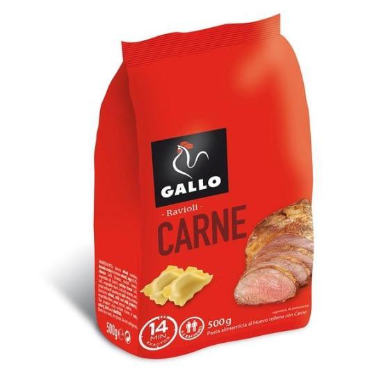 RAVIOLI CARNE GALLO 500GR