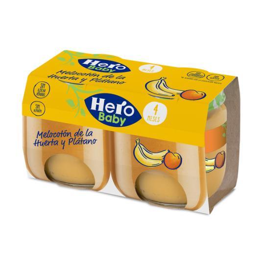 HERO BABY MELOC. PLATANO 2X120GR