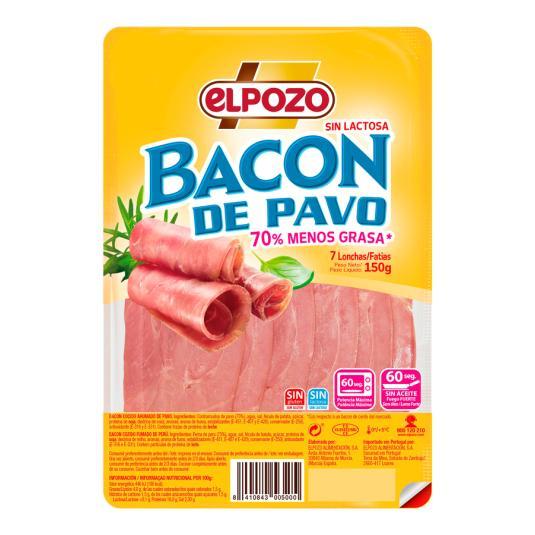 BACON DE PAVO ELPOZO LON.150GRS