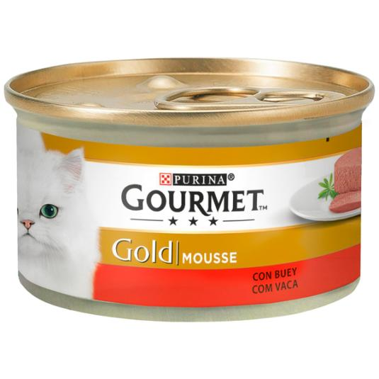 GOURMET CAT GOLD MOUS.BUEY 85 g.