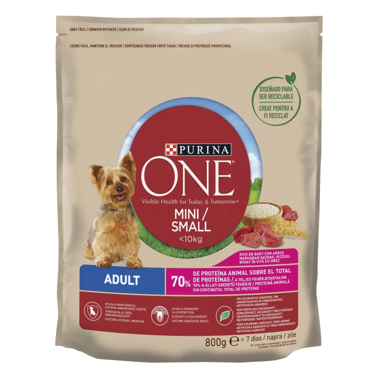 ONE MINI DOG ADULT  BUEY-ARROZ 800 GR