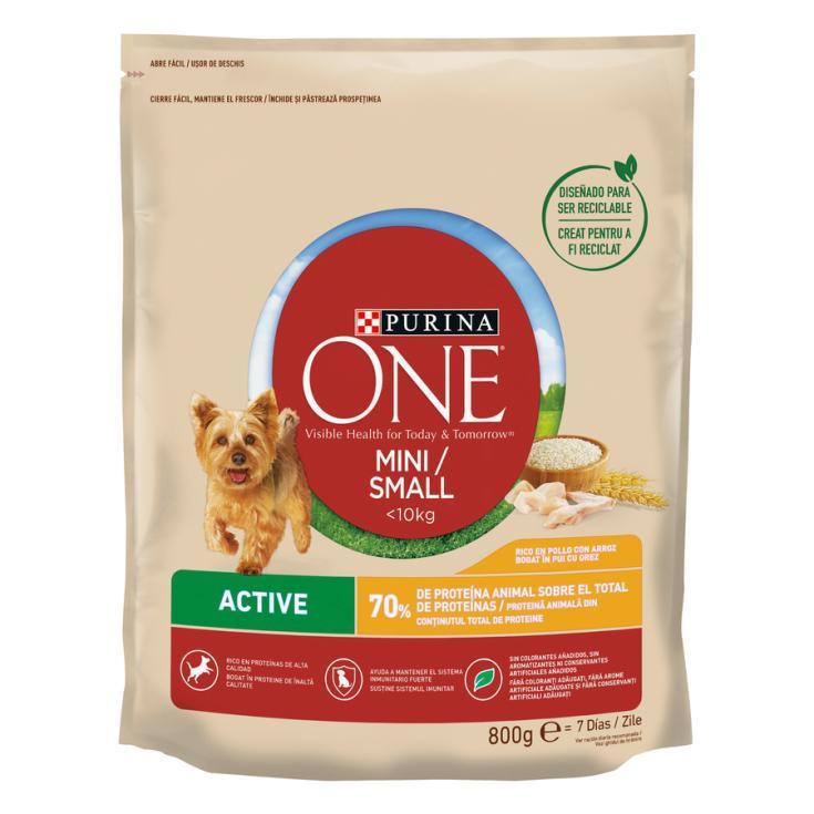 ONE MINI DOG ACTIVE  POLLO-ARROZ 800