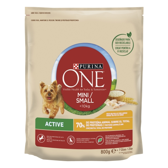 ONE MINI DOG ACTIVE POLLO-ARROZ 800
