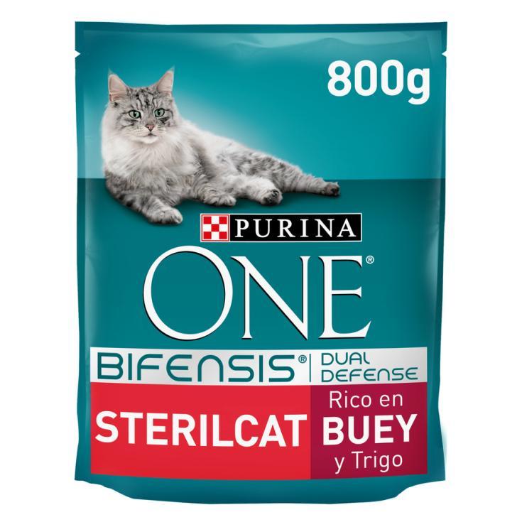 ONE CAT STERIL.BUEY-TRIGO  800G