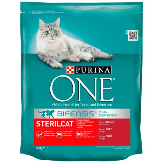 ONE CAT STERIL.BUEY-TRIGO 800G