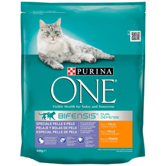 ONE CAT HAIRBALL POLLO 800 GR
