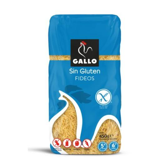 FIDEOS S/GLUTEN GALLO 450G