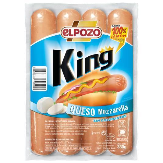 SALCH.KING QUESO MOZZA.POZO 330G