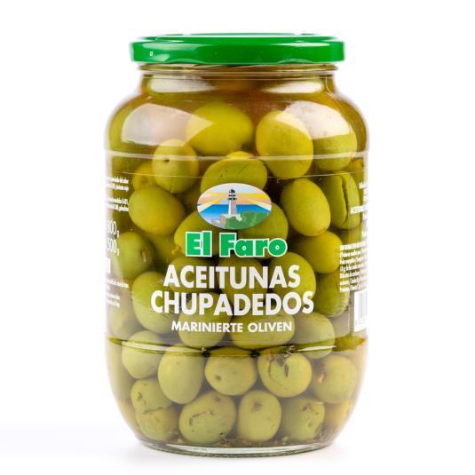 ACEITUNAS CHUPADEOS EL FARO 850ML