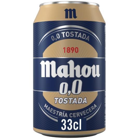 CERV.MAHOU 0,0 TOSTADA LATA 33 CL