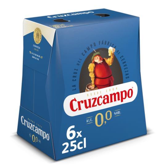 CERV.CRUZCAMPO 0,0% 1/4 PACK-6