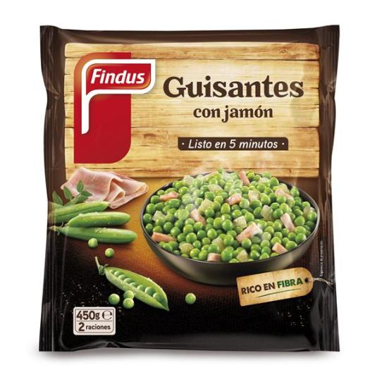 GUISANTES C/ JAMON FINDUS 450 GR