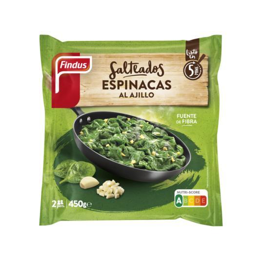 ESPINACA AJILLO FINDUS 450 GR