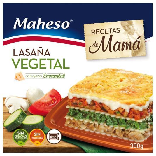 LASAÑA VEGETAL C/BECHAMEL 300GR