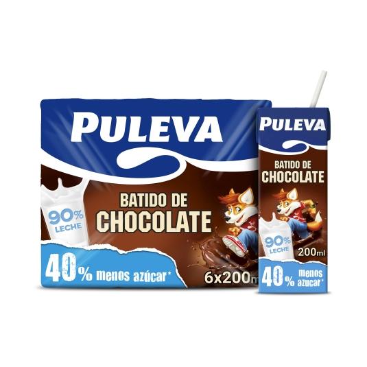 BATIDO PULEVA CACAO 200MLX6