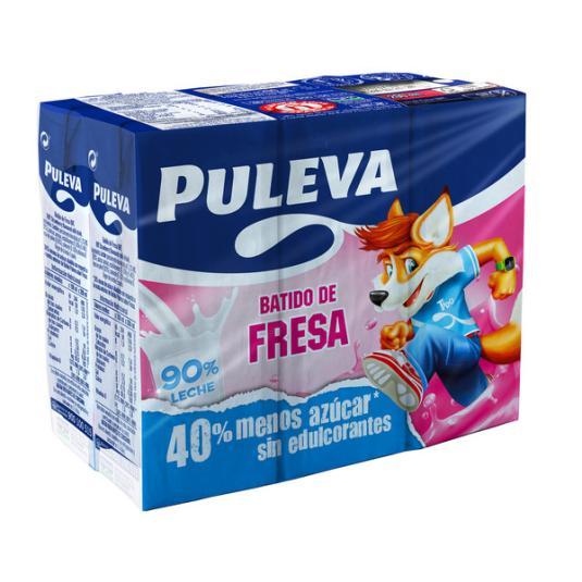 BATIDO PULEVA FRESA 200MLX6