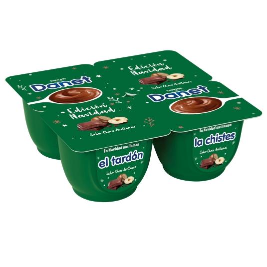 DANET CHOCOLATE AVELLANA 4X120G