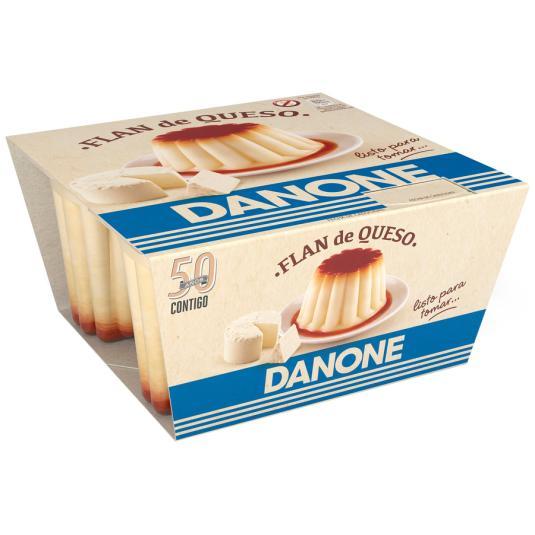 DEPOSTRE FLAN DE QUESO DANONE X4