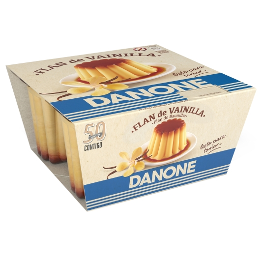 DEPOSTRE FLAN VAINILLA DANONE X 4