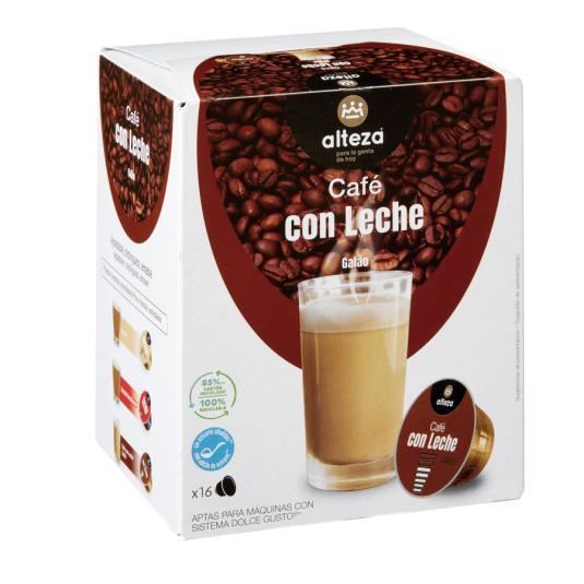 CAFE C/LECHE ALTEZA CAPSULA D.G 16U