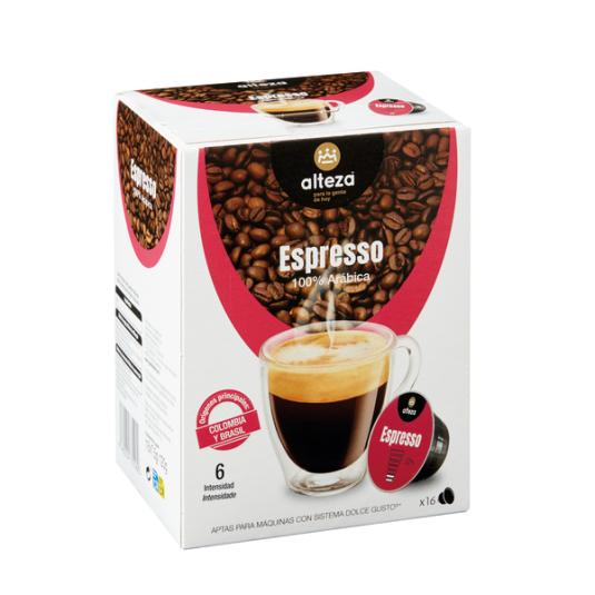 CAFE ESPRESSO ALTEZA CAPS. D.G 16U