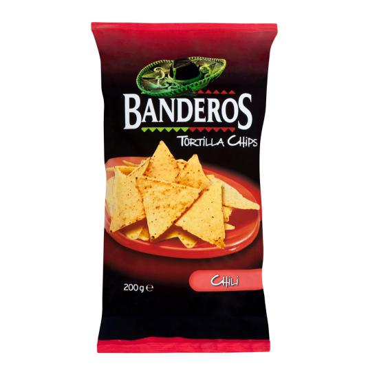 TORTILLA CHIPS CHILLI BANDEROS 200GR