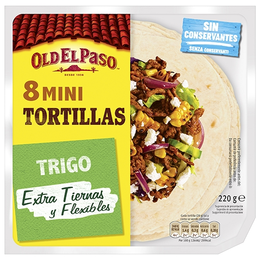 MINI TORTILLAS OLD EL PASO 8 UDES