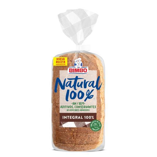 PAN BIMBO NAT.100% INTEGRAL 450 GR