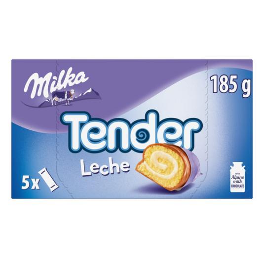 MILKA TENDER LECHE 5 UDES 185GR