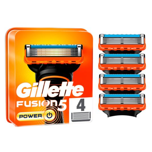 RECAMB.GILLETTE FUSION POWER 4