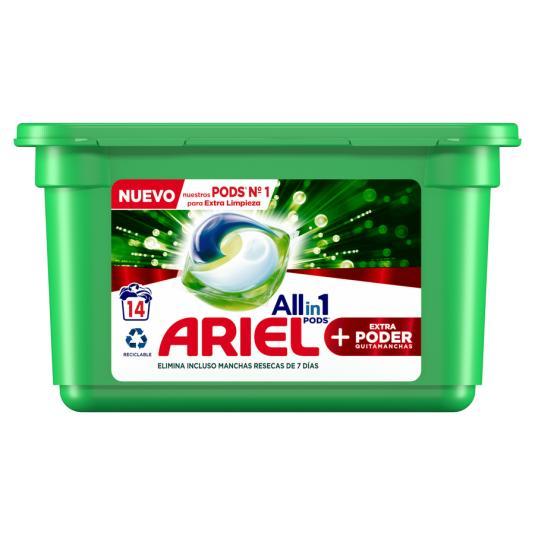 DETER. ARIEL PODS 3 EN 1 OXI 14 CAPS