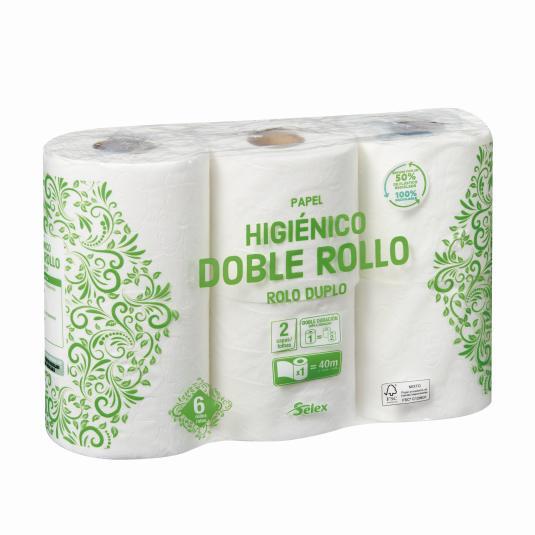 HIGIENICO SELEX DOBLE ROLLO 6 ROLLOS