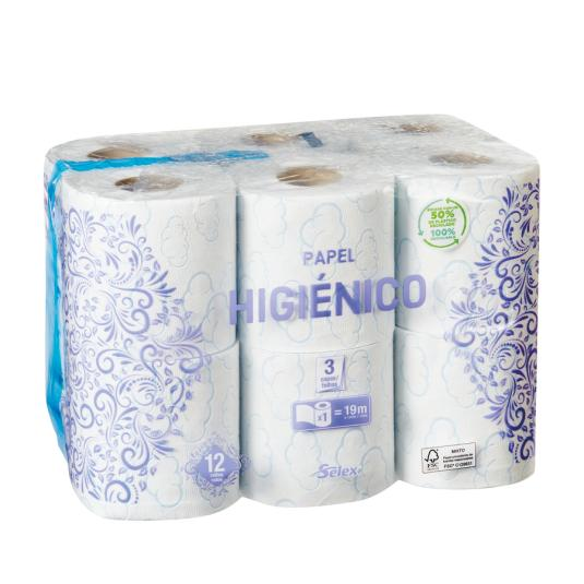 HIGIENICO SELEX 3 CAPAS PACK 12