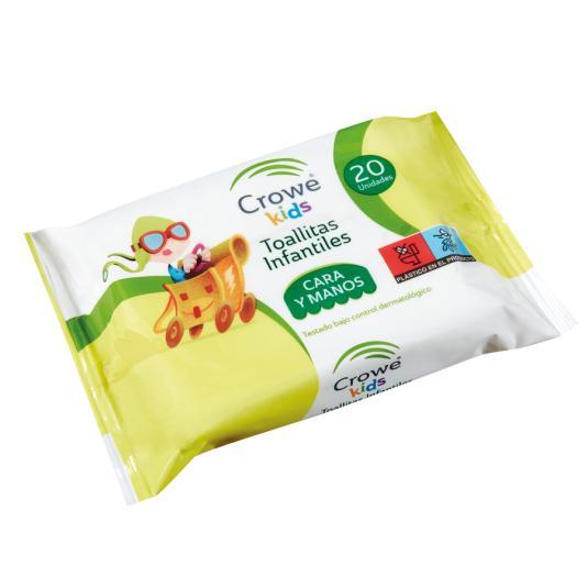 TOALL.CARA Y MANOS CROWE 20 UDES