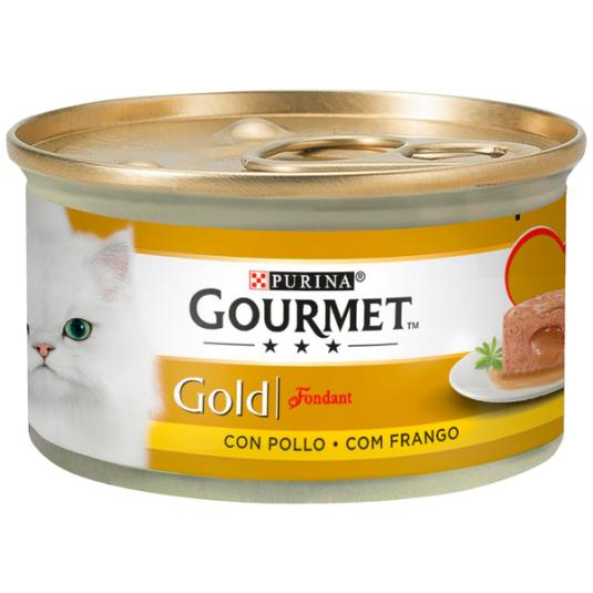 GOURMET CAT GOLD FOND.POLLO 85G