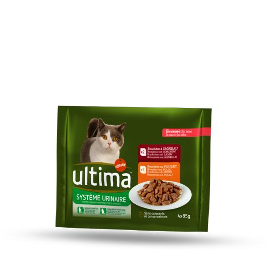 ULTIMA CAT WET TRACTO URIN. 4X85 G