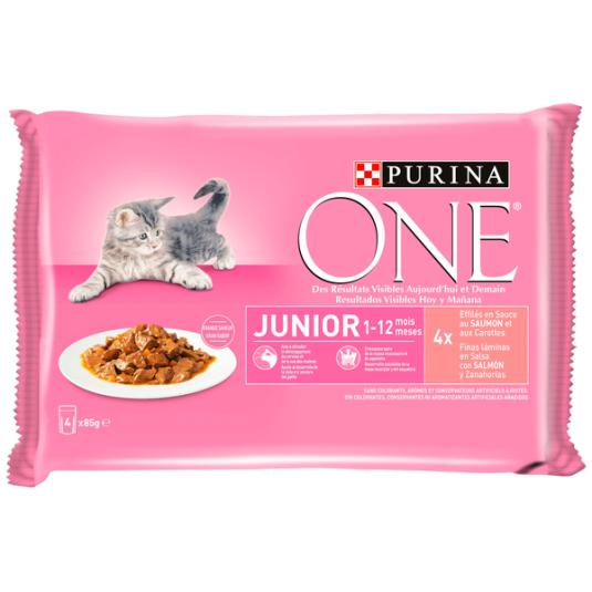 ONE CAT HUMEDO JUNIOR 4X85G