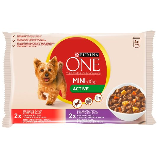 ONE MINI DOG ACT.BUEY-PATO 4X100G