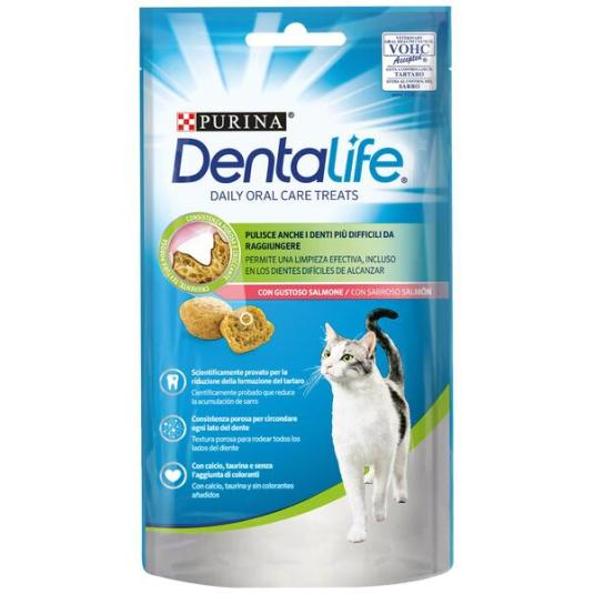 SNACK CAT DENTALIFE SALMON 40GR