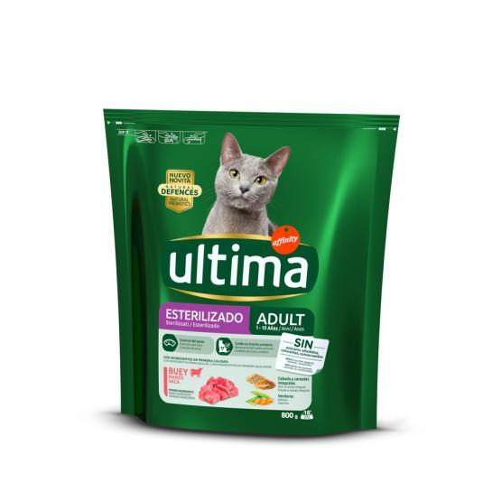 ULTIMA CAT ESTERIIZADOS BUEY 800G