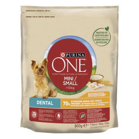 ONE MINI DOG DENTAL POLLO-ARROZ 800G